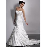 Buy cheap 2011 Sexy Sweetheart Satin Court Strapless Wedding Dresses Beading Ruffles from wholesalers