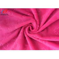 Buy cheap 2mm Pile High Embossed Minky Plush Fabric , Soft Velboa Fabric For Baby Blanket from wholesalers