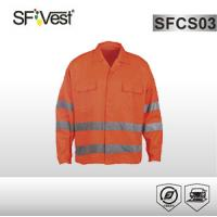 Buy cheap 5cm silver reflective tape overalls and coveralls safety shirt for men EN ISO 20471 CLASS 2 product