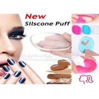 Buy cheap Custom Beauty Makeup Accessories Transparent Silicone Gel Makeup Sponge from wholesalers