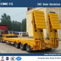Buy cheap tri-axle 60 ton low bed semi trailer with hydraulic ramps from wholesalers