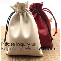 Buy cheap Soft Offwhite and Red PU Leather Bag For Packaging,Custom Pink Brown Faux Leather Drawstring Pouch Faux Leather Jewelry from wholesalers