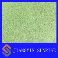 Buy cheap Waterproof PU Synthetic Leather , Green Faux Leather Fabric 0.9mm Thickness from wholesalers
