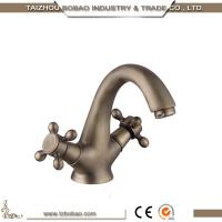 Buy cheap 89201F 2018 Competitive Price Classic Design Antique Brass Dual Handle Faucet Basin Tap With Good Braided Hose from wholesalers