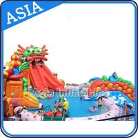Buy cheap Outdoor  Commercial Inflatable Ground Water Park Slide with Pool , Moving Water Park from wholesalers