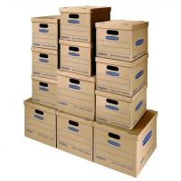 Buy cheap Classic Moving Boxes Tape Free Assembly Easy Carry Handles Paper Box from wholesalers