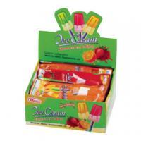 Children Fruit Hard Candy Lollipops Ice Cream With Fluorescence 10g * 30pcs