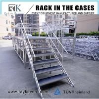 Buy cheap Mobile folding stage for trade show with wedding folding stage platform in heavy load capacity from wholesalers
