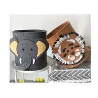 Buy cheap Washable Lion Pattern Felt Storage Boxes Easy Using With EN71 Certification from wholesalers