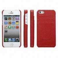Buy cheap Leather Case for iPhone 5, Back Cover with Card Inserted Function, Simple but Fashionable from wholesalers