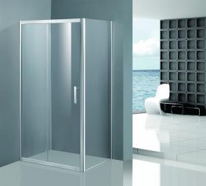 Buy cheap Shinning Glass Shower Enclosures , Chrome Framed Shower Enclosure Coner Sliding Open product