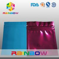 Buy cheap Three Side Blue / Red Small Foil Pouch Packaging Zipperlock , Laminated from wholesalers