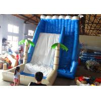 Buy cheap Blue Waves Inflatable Water Slide And Pool , High Safe Commercial Grade Water Slide from wholesalers
