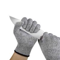 Buy cheap Cut Resistant Gloves HPPE Fiber Food Grade Hand Protection Anti Cut Level 5 Safety Gloves from wholesalers