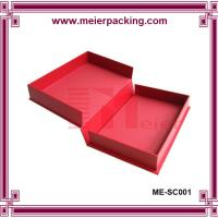 Buy cheap Delicate design red color cardboard garment box, custom paper gift box ME-SC001 from wholesalers