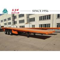 Buy cheap 40 FT 3 Axle Flat Deck Utility Trailer Steel Frame With Airbag Suspension from wholesalers