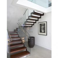 Buy cheap indoor staircase solid wooden staircase modern staircase staircase stainless steel posts Wooden step Staircase from wholesalers