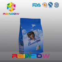 Buy cheap Custom Printed Flat Bottom Plastic Bags , Quad Seal Block Bottom Bag With Clear Window from wholesalers