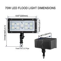 Buy cheap AC100-277V Slim LED Flood Light Outdoor Knuckle Mount 45w Aluminum / Glass Shell from wholesalers