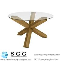 Buy cheap CE & SGS certificated quality Clear Tempered Table Glass top from wholesalers