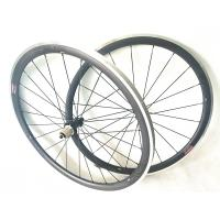 Front 20 Hole Carbon Alloy Road Wheels Alloy Breaking Clincher Rims 490g