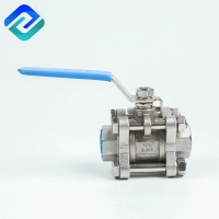 Buy cheap PN63 1000PSI PN63 3PC Ball Valve 2 Inch Lost Wax Casting from wholesalers