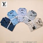 Buy cheap LV men plaid shirts ,printing shirts ,long sleeve shirt, brand shirts from wholesalers