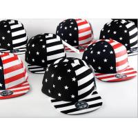 Buy cheap Painting USA Flag Cool Snapback Hats For Men , Structured Blank Logo Boys Snapback Hats from wholesalers