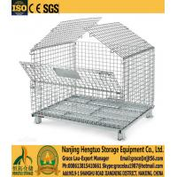 Buy cheap Wire Mesh Container  , Wire mesh cage with cover, metal wire basket with lids, galvanized wire mesh cage with mesh cover from wholesalers