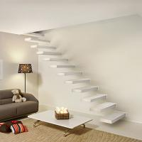 Buy cheap Wooden stair with Glass railing/ Build Floating Stair product
