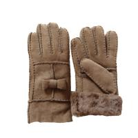 Buy cheap Fashion Winter Shearling Sheepskin Gloves Soft 100% Wool Lining Plain Style from wholesalers