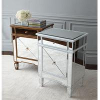 Buy cheap Popular Silver Mirrored Bedside Tables , Durable Mirrored Dresser And Nightstand Set from wholesalers