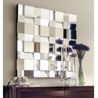 Buy cheap Square Faceted Angled 3D Beautiful Wall Mirrors , Large Decorative Mirrors For Walls from wholesalers
