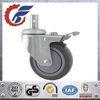 Buy cheap ANK grey PU wheel caster with total lock brake swivel stem caster in home care bed from wholesalers