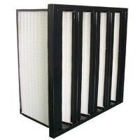 Buy cheap Hot Melt V Bank F8 Medium Efficiency Filters With Glass Fiber Media from wholesalers