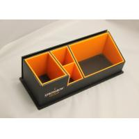 Buy cheap 3mm Clear Simple Acrylic Office Stationery Holder With Notes Box from wholesalers