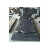 Buy cheap Blue Polished Graveside Monuments Headstones Unique Personalized Design from wholesalers