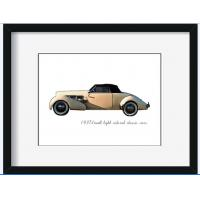 Buy cheap Wall decoration hanging car picture painting wooden frame fashion gift home decoration from wholesalers