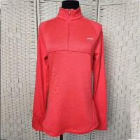 Buy cheap Coral Red Sustainable Athletic Wear , Half Zip Long Sleeve Sports Sweatshirt product