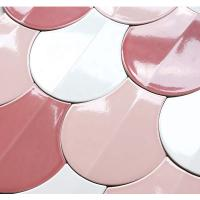 Buy cheap Glossy Surface Decorative Wall Tiles Fan Shaped Design 175x185 Slip Resistance product