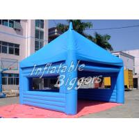 Buy cheap Custom Blue PVC Inflatable Outdoor Tent Powerful Blower For Exhibition Show from wholesalers