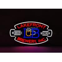 Buy cheap Beer Lakefront Custom Neon Signs Brewery Personalized Advertising Neon Signs from wholesalers