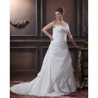 Buy cheap High End Strapless Sweetheart Plus Size Designer Wedding Gowns , Laced Up Taffeta Fabric from wholesalers