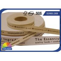 Buy cheap Personalized Printed Cotton Ribbon Packaging Accessories for Clothing Retail Packaging from wholesalers