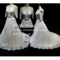 Buy cheap Bridal Gown Luxury Rhinestone Belt Vintage Fabric Lace Wedding Dress BYB-14506 from wholesalers