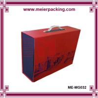 Buy cheap Cardboard paper box with plastic handle, custom printing clothing storage box ME-MG032 from wholesalers