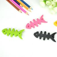 Buy cheap Cable drop clips cute fish bone earphone wire holding management useful cable winder from wholesalers
