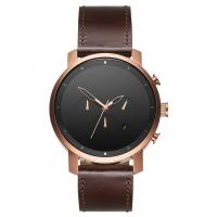 Buy cheap Brand your logo wine red leather strap odm watches chronograph from wholesalers