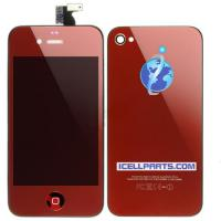 Buy cheap Mirrored LCD Digitizer & Back Cover & Button Assembly-Red For Apple iPhone 4 from wholesalers