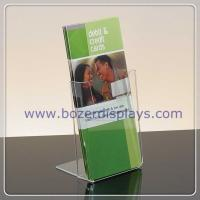 Buy cheap Single Pocket Clear Acrylic Portable Brochure Holders from wholesalers